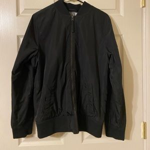 Boys black bomber jacket from Hollister